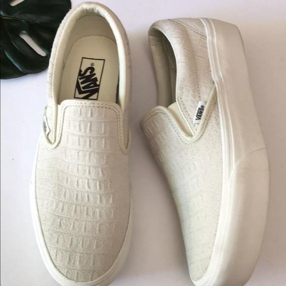vans platform white snakeskin